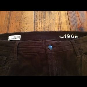 Gap dark chocolate brown velour pants